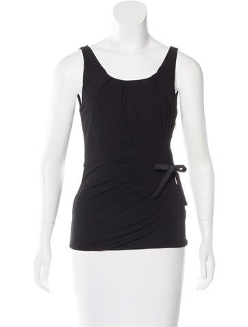 Gucci Sleeveless Tie Top None