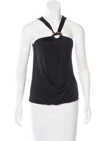 Gucci Draped Sleeveless Top None