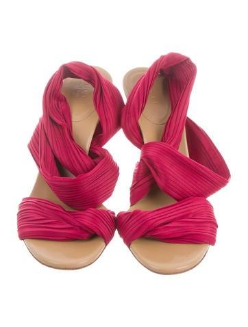 Pleated Slide Sandals