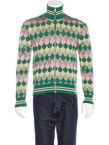 Gucci 2017 Wave Jacquard Wool Jacket None