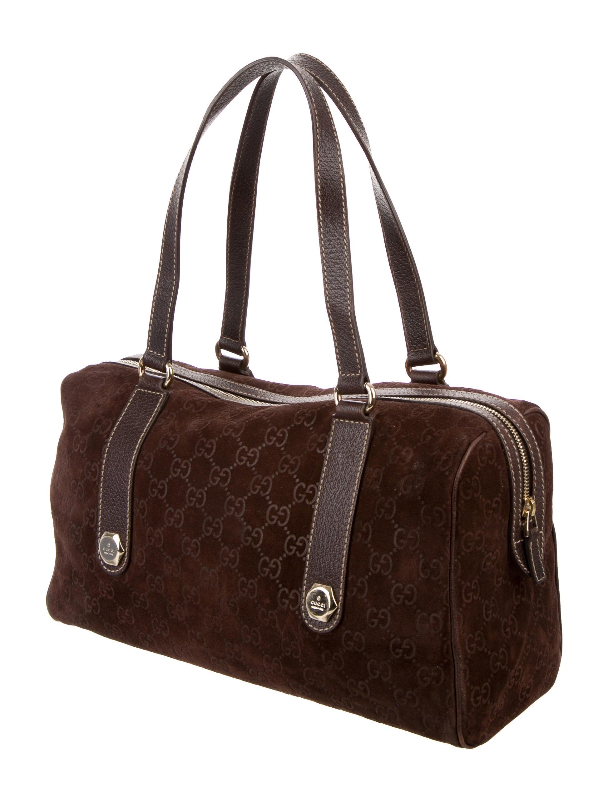 Boston Bag Patchwork Tutorial: Gucci GG Suede Large Boston Bag