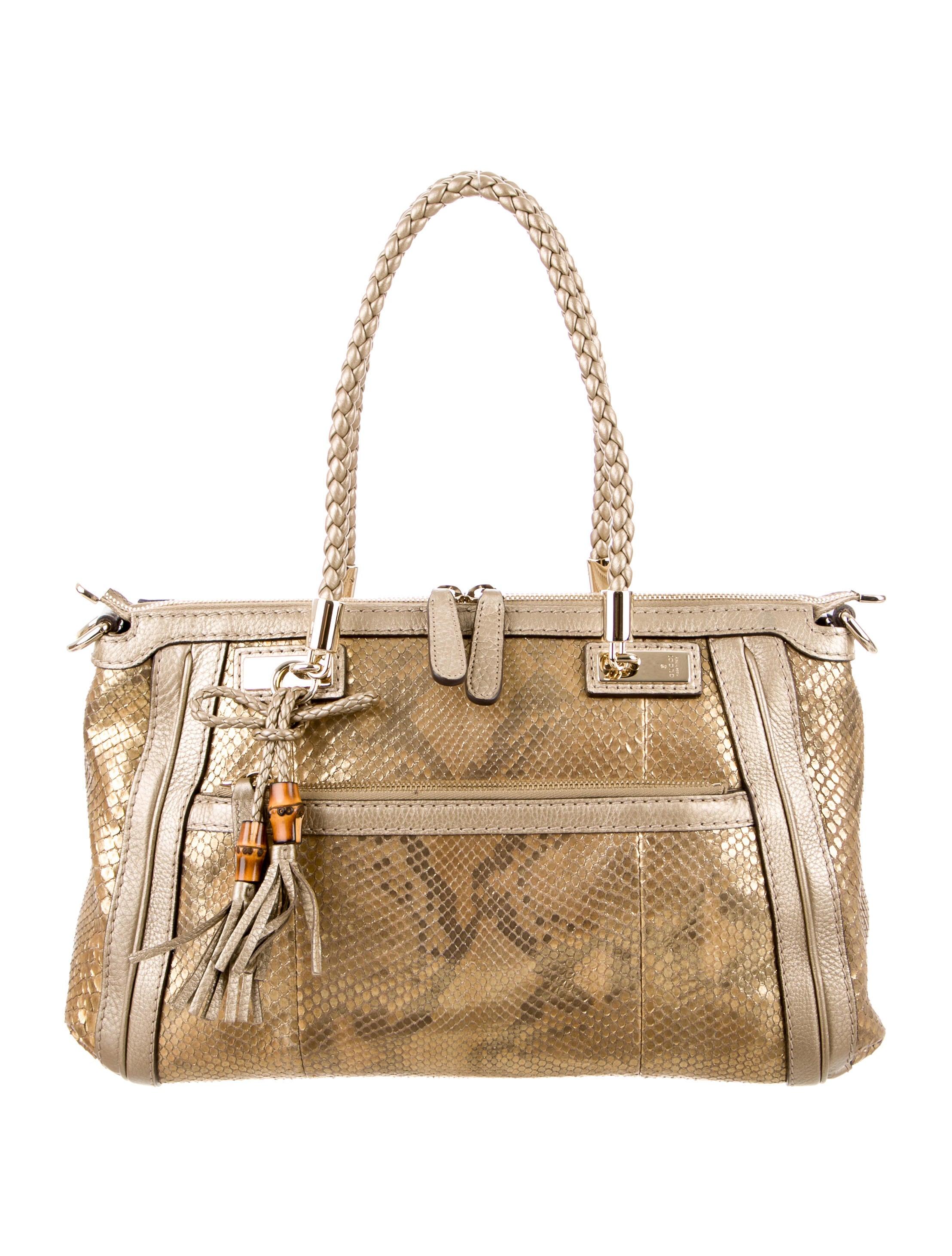 36b51668136 Gucci Python Bella Top Handle Bag - Handbags - GUC118162
