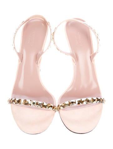 Embellished Suede Sandals