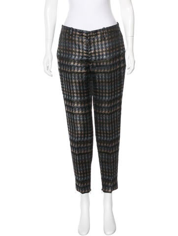 Gucci Silk Straight-Leg Pants