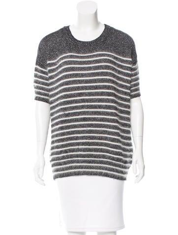 Gucci Metallic Angora-Blend Sweater None