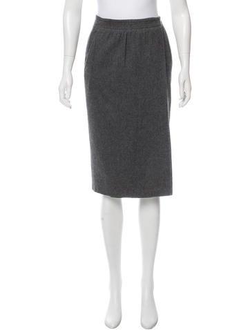 Gucci Wool-Blend Pencil Skirt None