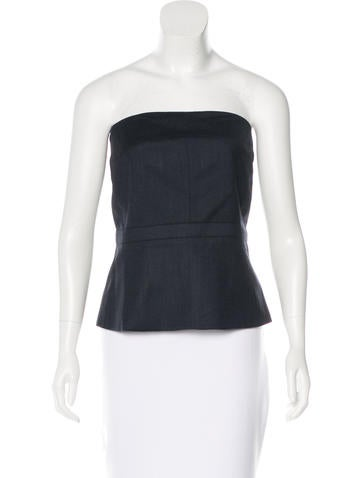 Gucci Strapless Bustier Top None