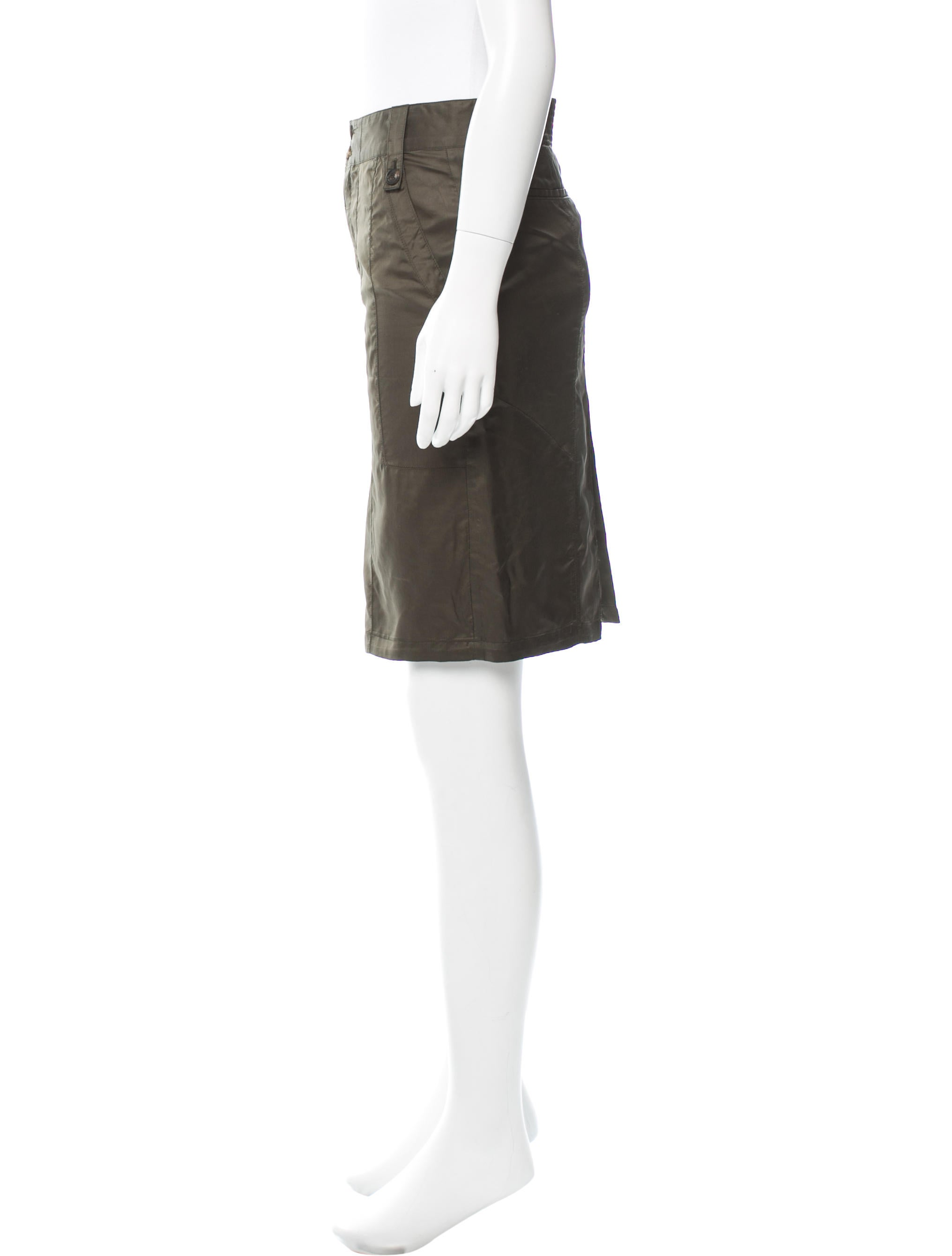 gucci knee length pencil skirt clothing guc119566