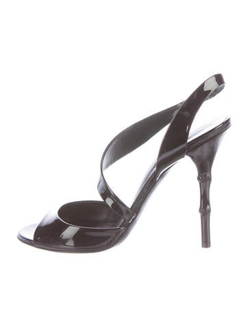 Gucci Patent Leather Sandals None
