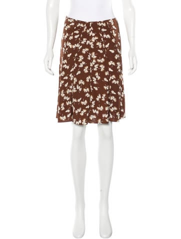 Gucci Silk Floral Print Skirt