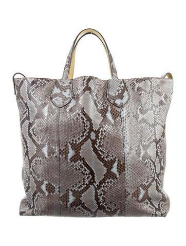 71f1134140f Gucci Python Ramble Reversible Tote - Handbags - GUC119935