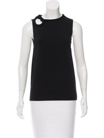 Gucci Knit-Accented Sleeveless Top None