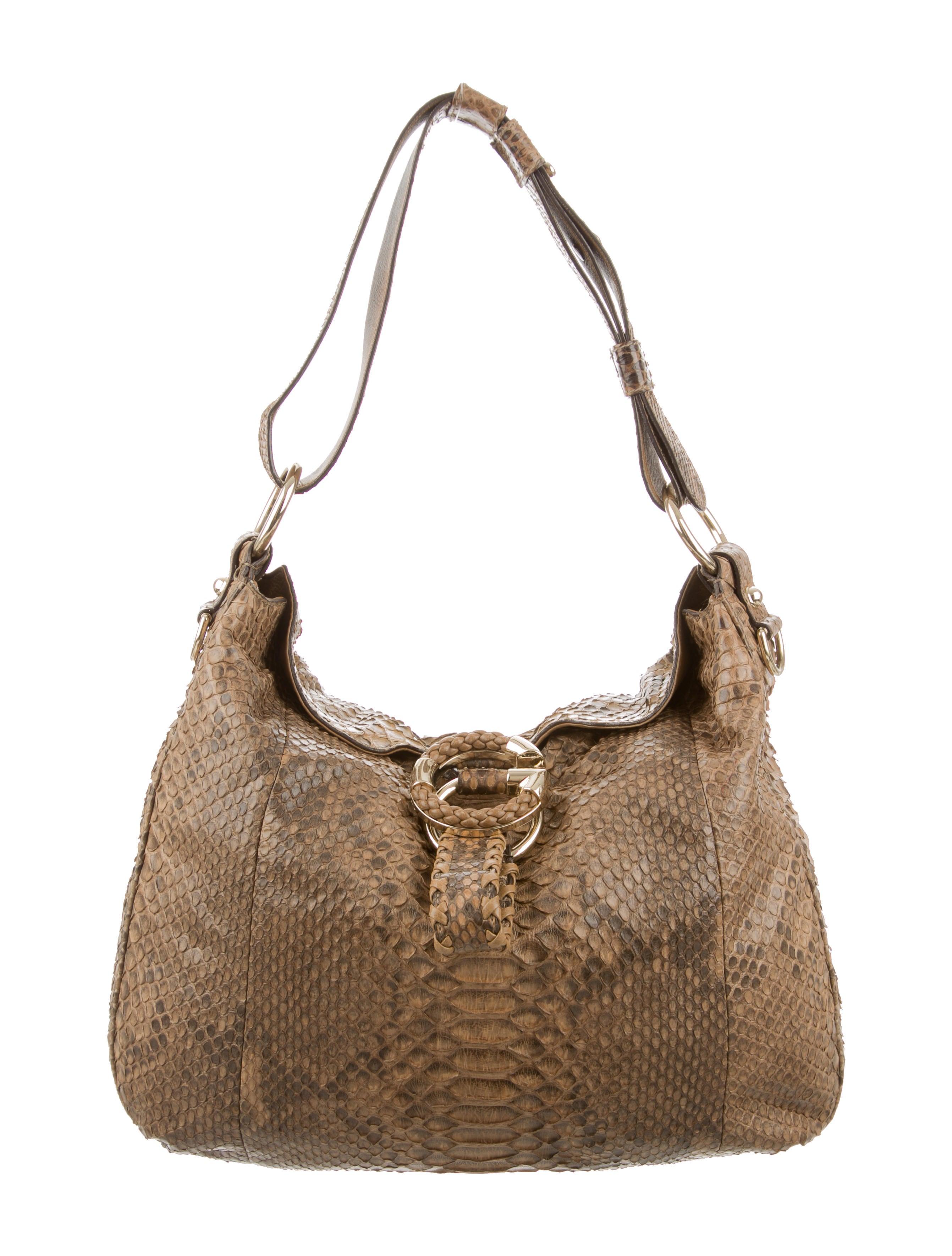 d2c05ae7e0c Gucci Python G Wave Hobo - Handbags - GUC120486