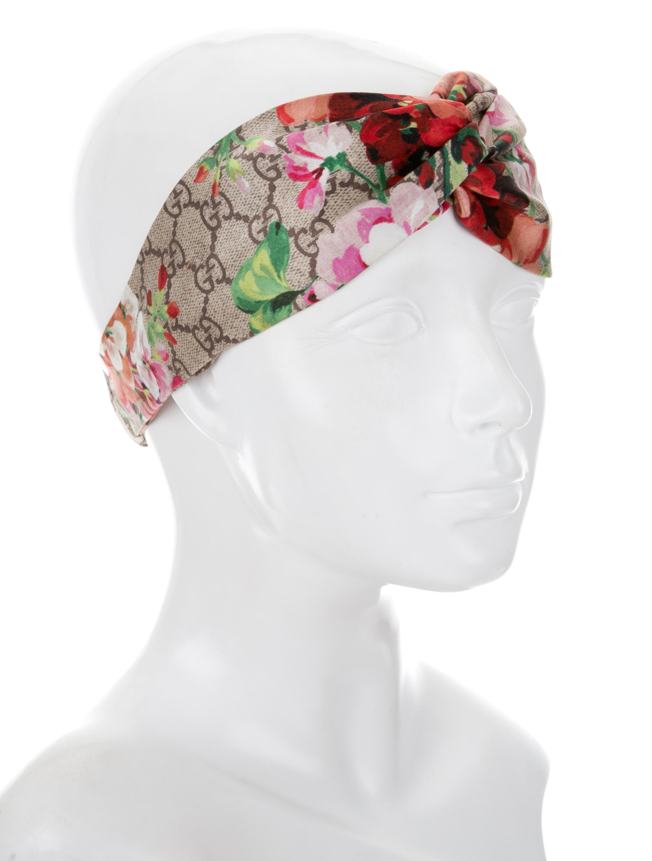 Gucci 2017 Silk Gg Blooms Headband Accessories