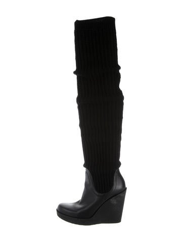 Gucci Knit Sock Wedge Boots None