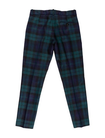 Plaid Wool Pants