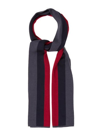 Gucci Web Rib Knit Scarf None