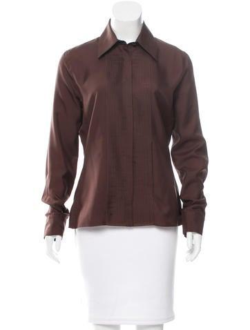 Gucci Button-Up Silk Top None