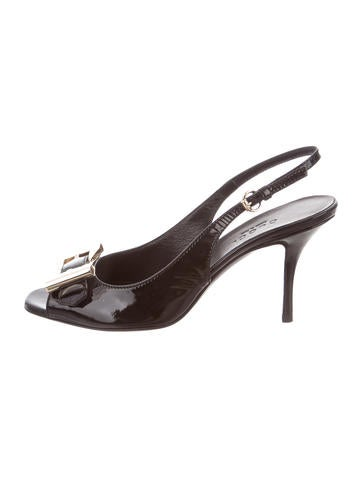 Gucci Slingback Bow Pumps None