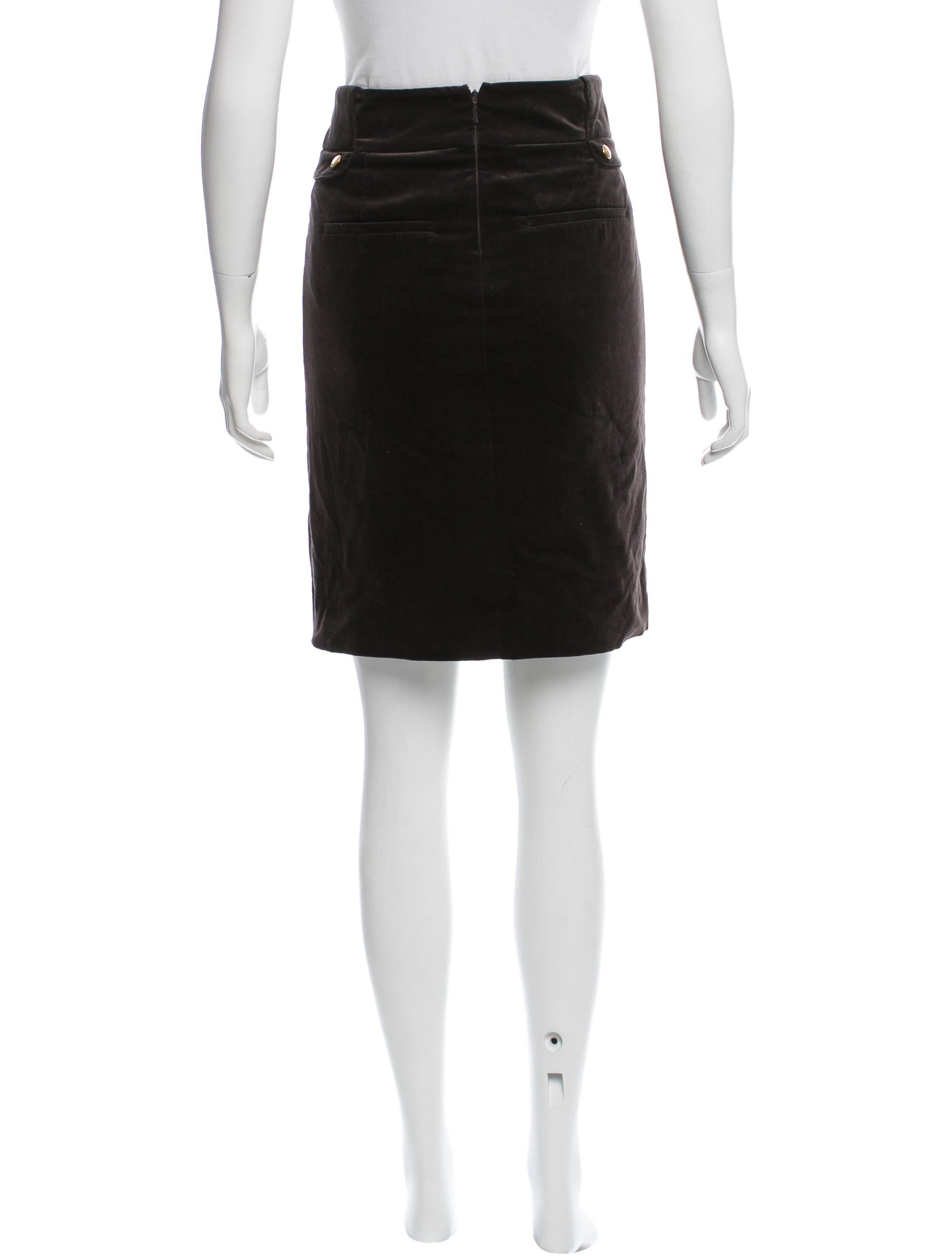 Gucci Velvet Pencil Skirt - Clothing - GUC122301 | The RealReal