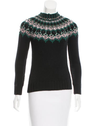 Gucci Embellished Wool Sweater None