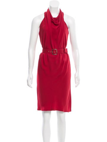 Gucci Silk Sleeveless Dress None
