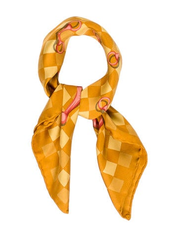 Horsebit Checkered Scarf