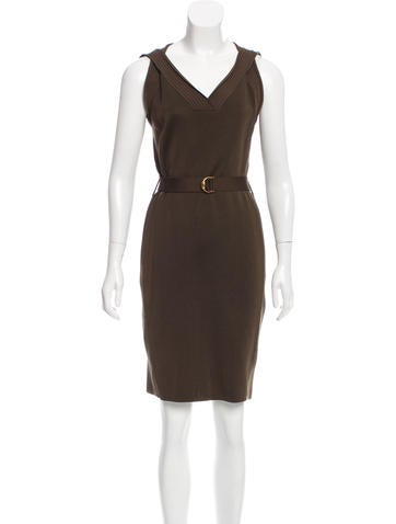 Gucci Belted Knit Dress None