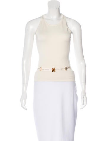 Gucci Knit Belted Top None
