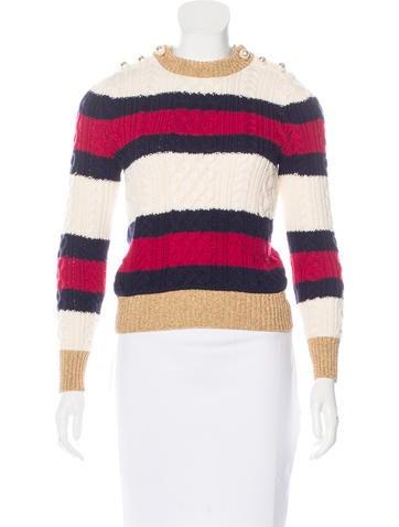 Gucci Fall 2016 Striped Wool Sweater None