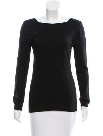 Gucci Metallic-Paneled Wool Sweater None