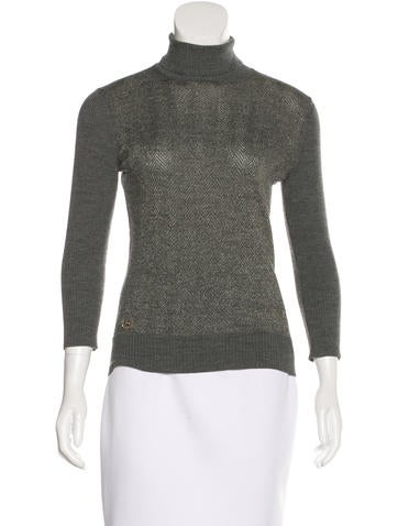 Gucci GG Embellished Wool Blend Sweater None