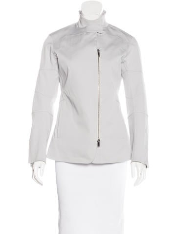 Gucci Long Sleeve Zip-Front Jacket