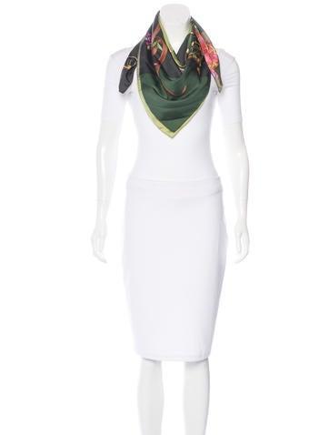 Silk Flora Scarf