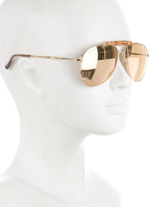 c10f7723aa Gucci 24k Gold-Plated Aviator Sunglasses - Accessories - GUC123638 ...