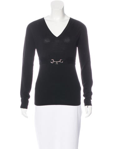 Gucci Wool Long Sleeve Top None
