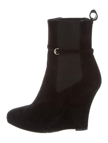 gucci suede wedge ankle boots shoes guc123925 the