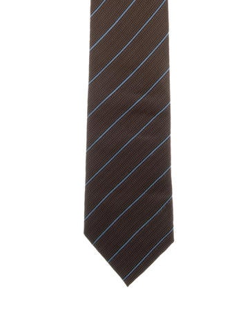 Gucci Striped Silk Tie None