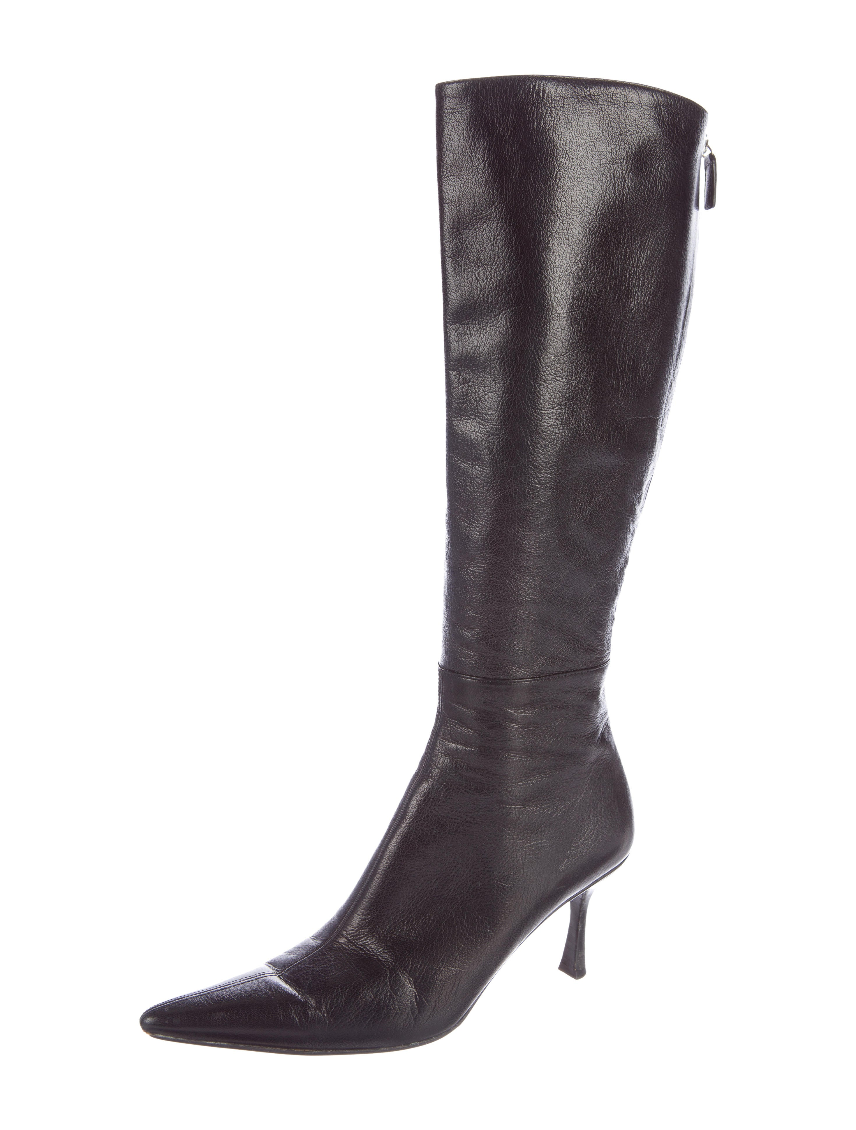 gucci leather pointed toe boots shoes guc124108 the