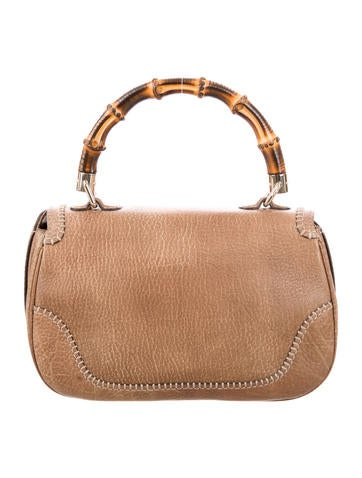 New Medium Bamboo Top Handle Bag