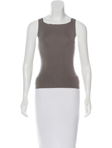 Gucci Sleeveless Rib Knit Top None
