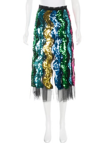 Fall 2016 Sequined Tulle Skirt