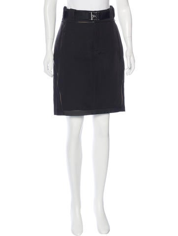Gucci Belted Pencil Skirt None