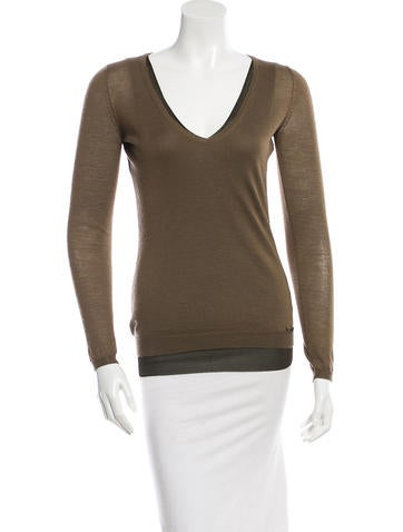 Gucci Cashmere V-Neck Sweater None