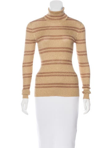 Gucci Striped Metallic Top None
