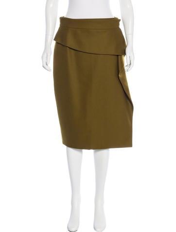 Gucci Wool Peplum Skirt None