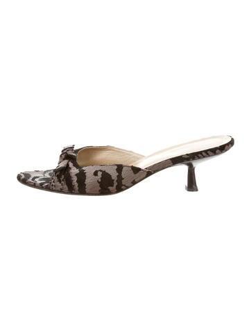 Gucci Velvet Coated Sandals