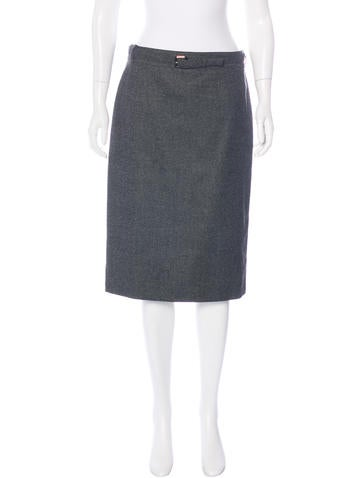 Gucci Wool & Cashmere Skirt None