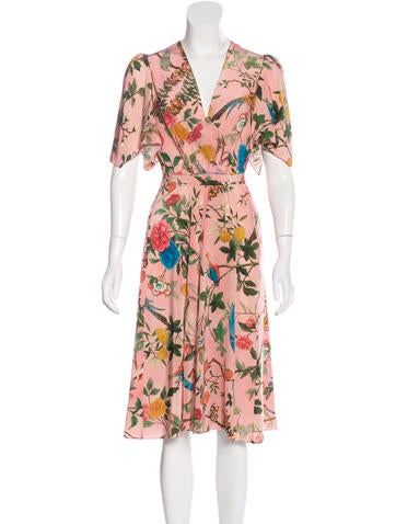 Gucci 2016 Silk Tian Print Dress