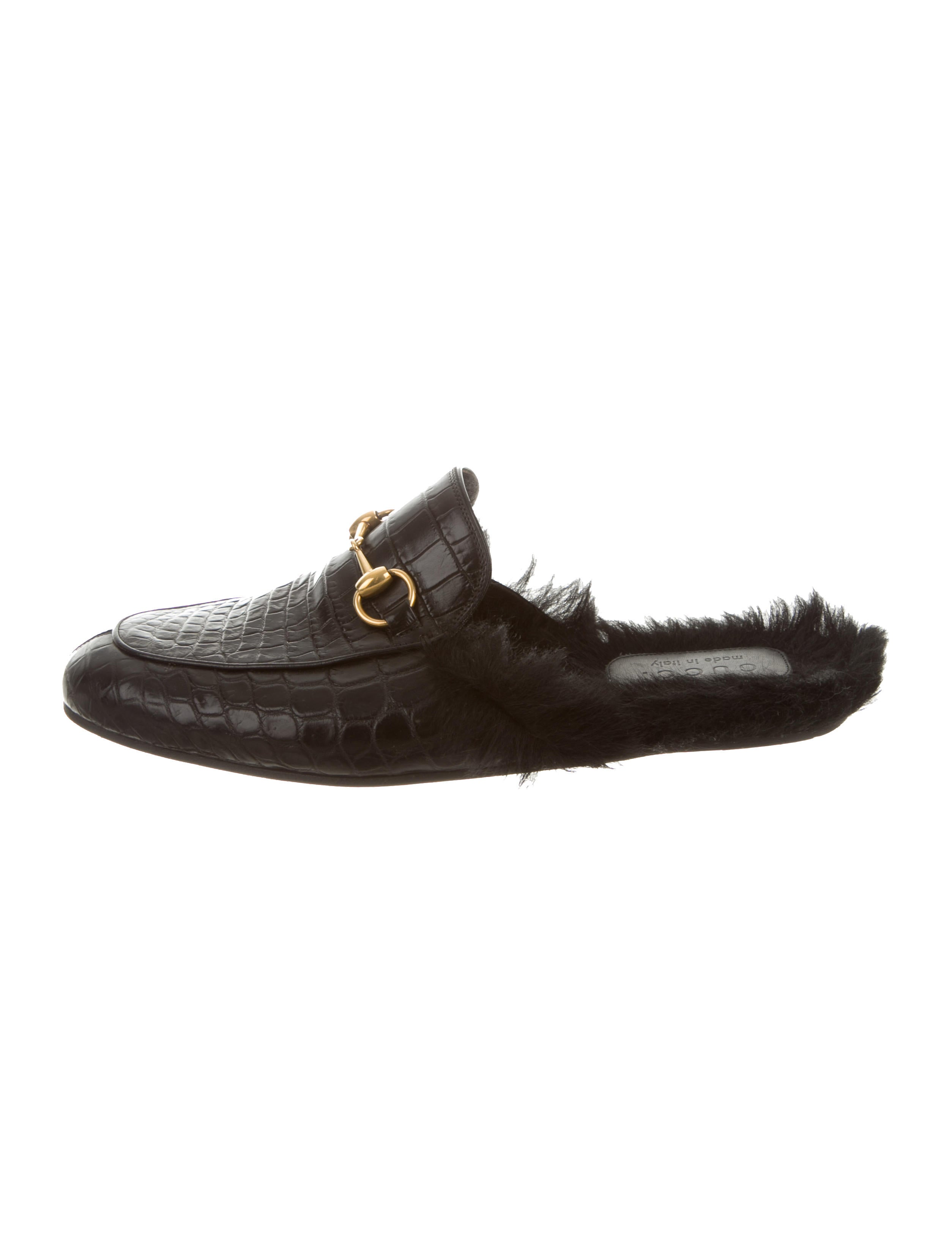 Gucci Princetown Crocodile Slippers - Shoes - GUC126236  99edded78056